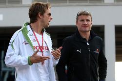 Jenson Button, Honda Racing F1 Team, David Coulthard, Red Bull Racing
