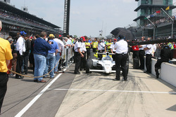 Graham Rahal is pushed into qualifying position