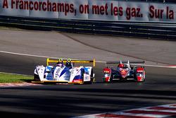 #18 Rollcentre Racing Pescarolo - Judd: Vanina Ickx, Joao Barbosa, #1 Audi Sport Team Joest Audi R10 TDI: Allan McNish, Rinaldo Capello