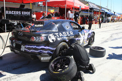 Pit stop for #30 Racers Edge Motorsports Maxda RX-8: Tommy Constantine, Graig Stone