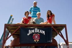 The Jim Beam girls with fans