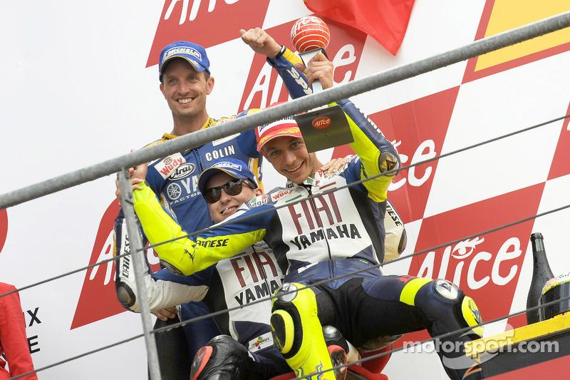 2008: Podio: 1. Valentino Rossi, 2. Jorge Lorenzo, 3. Colin Edwards