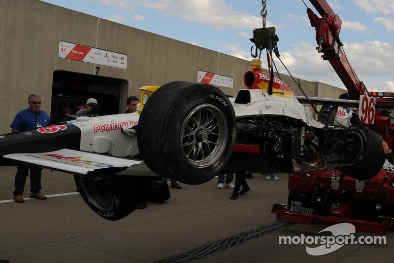 Mario Dominguez's wrecked car