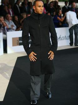 Lewis Hamilton, McLaren Mercedes Amber Fashion which benefits the  Elton John Aids Foundation