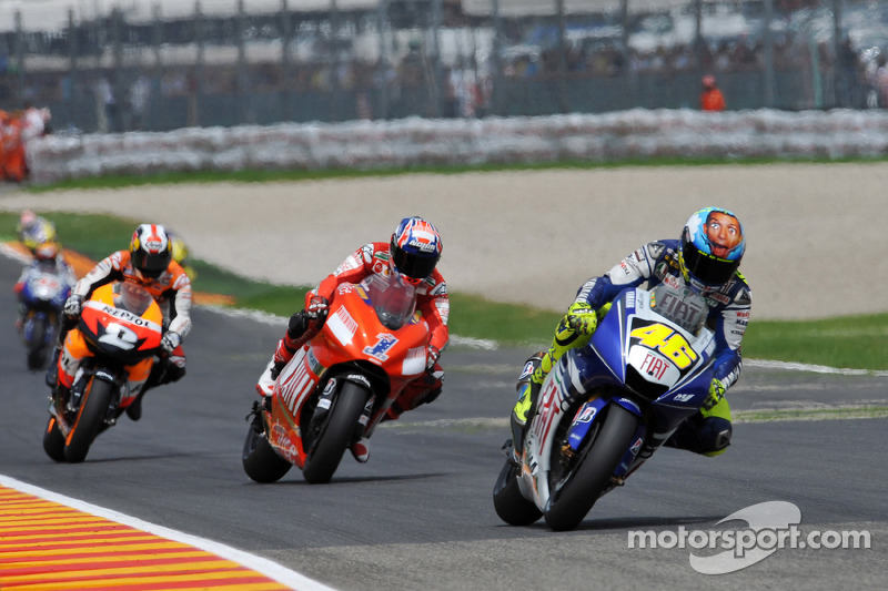 2008: 1. Valentino Rossi, 2. Casey Stoner, 3. Dani Pedrosa