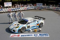 #90 Farnbacher Racing Ferrari F430 GT: Lars-Erik Nielsen, Pierre Ehret, Pierre Kaffer