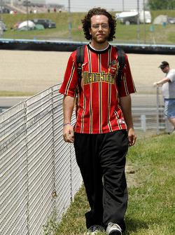 Metros Stars soccer fan in turn 8