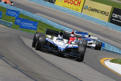 Marco Andretti leads A.J. Foyt IV and Buddy Rice