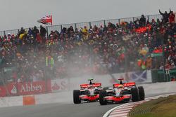 Lewis Hamilton, McLaren Mercedes, MP4-23 and Heikki Kovalainen, McLaren Mercedes, MP4-23