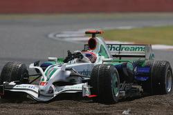 Jenson Button, Honda Racing F1 Team, RA108 in the gravel