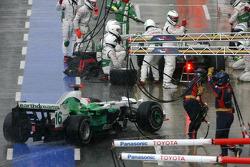 Рубенс Баррікелло, Honda Racing F1 Team, Дженсон Баттон, Honda Racing F1 Team, піт-стоп