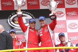 GT2 podium: class winners Toni Vilander and Gianmaria Bruni