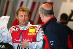 Tom Kristensen, Audi Sport Team Abt, Portrait, talking with Dr. Wolfgang Ullrich, Audi's Head of Sport