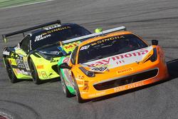 #180 Kessel Racing Ferrari 458 Italia: Gautam Singhania and #181 Ineco MP - Racing Ferrari 458: Erich Prinoth