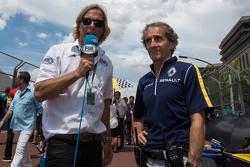 Alain Prost, Renault e.Dams con los medios