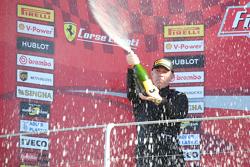 Podio Gara 2 Pirelli EU secondo #27 Rossocorsa - Pellin Racing Alessandro Vezzoni