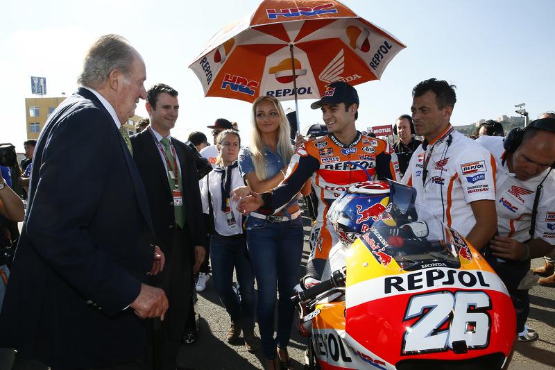 داني بيدروسا، هوندا وملك إسبانيا السابق خوان كارلوس