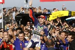 El ganador y campeón del mundo 2015, Jorge Lorenzo, Yamaha Factory Racing