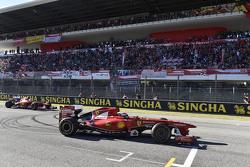 Kimi Raikkonen, Ferrari e Sebastian Vettel, Ferrari