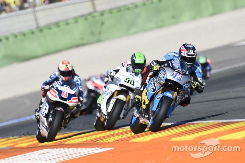 Scott Redding, Marc VDS Racing Honda and Eugene Laverty, Aspar Team MotoGP Honda and Hector Barbera, Avintia Racing Ducati