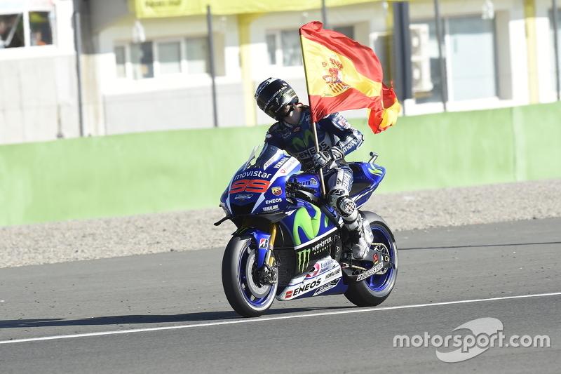 Pemenang balapan, dan kampiun 2015 Jorge Lorenzo, Yamaha Factory Racing