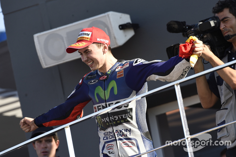 Podium: Winner and 2015 World Champion Jorge Lorenzo, Yamaha Factory Racing