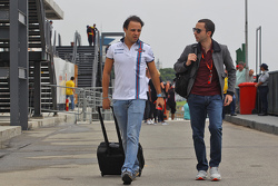 (L to R): Felipe Massa, Williams with Nicolas Todt, Driver Manager