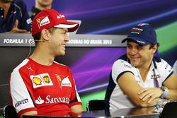 Sebastian Vettel, Ferrari com Felipe Massa, Williams