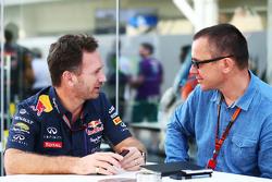 Christian Horner, Red Bull Racing Team Principal with Jonathan Noble, Motorsport.com Editor