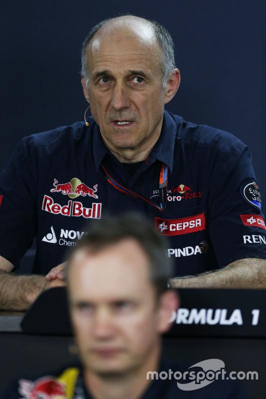 Franz Tost, Scuderia Toro Rosso teambaas in de FIA persconferentie