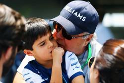 Felipinho Massa, con il padrino Luis Antonio Massa,