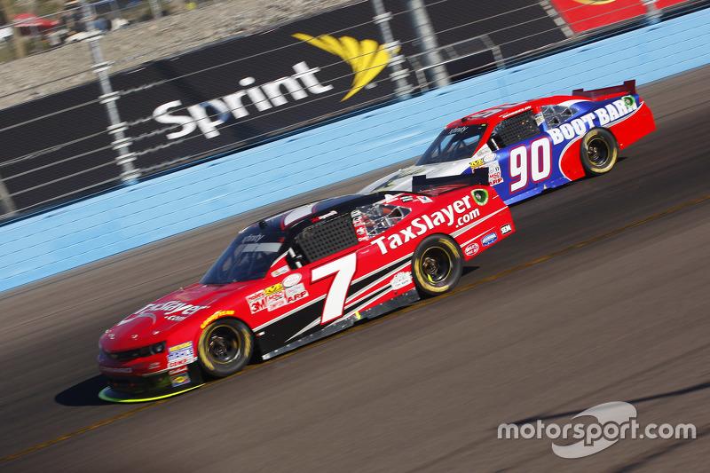 Regan Smith, JR Motorsports Chevrolet and Mario Gosselin, King Autosport Chevrolet