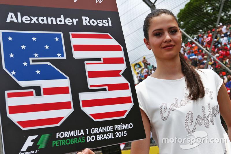 Grid girl para Alexander Rossi, Manor Marussia F1 Team