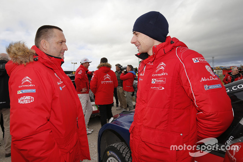 Yves Matton, Citroën Racing, Teamchef, mit Stéphane Lefebvre, Citroën World Rally Team