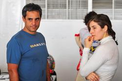 Juan Pablo Montoya y Tatiana Calderon