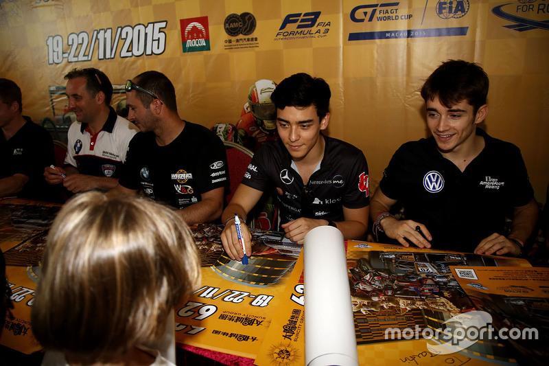 Matt Solomon, Double R Racing Dallara Mercedes-Benz ve Charles Leclerc, Van Amersfoort Racing Dallar