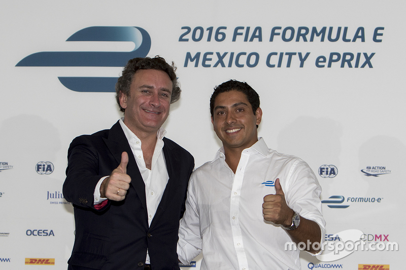 Alejandro Agag  CEO Fórmula E y Salvador Duran Team Aguri