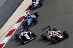 Alfonso Celis Jr., ART Grand Prix leads Jann Mardenborough, Carlin and Ralph Boschung, Jenzer Motorsport
