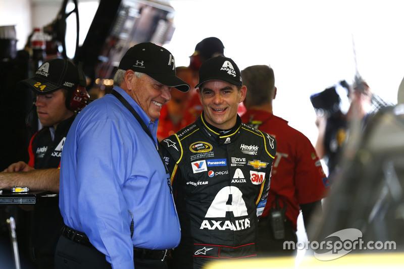 Jeff Gordon, Hendrick Motorsports Chevrolet, mit Rick Hendrick