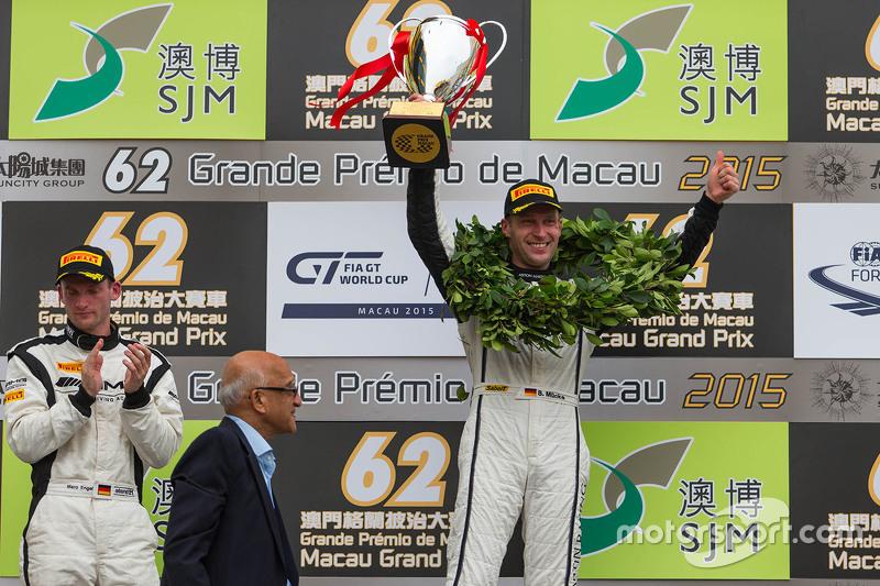 Podium: winner Stefan Mücke, Craft-Bamboo AMR, second Maro Engel, Mercedes AMG Driving Academy