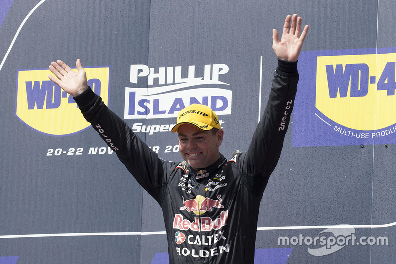Podium: winner Craig Lowndes, Triple Eight Race Engineering Holden