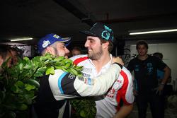 Pepe Oriola, SEAT Leon, Team Craft-Bamboo LUKOIL congratulate the TCR 2016 Champion Stefano Comini, SEAT Leon, Target Competition