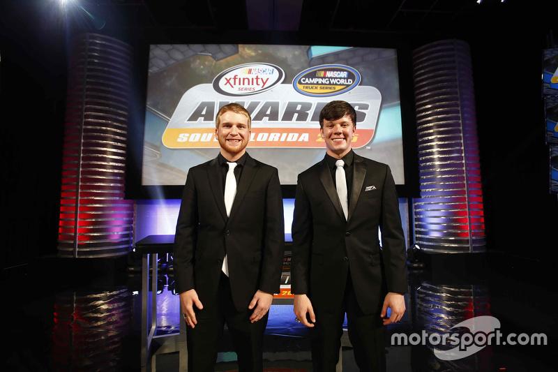 NASCAR Truck Чемпіон серії Ерік Джонс, NASCAR Xfinity Чемпіон серії Кріс Бюшер