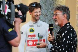Ромен Грожан, Lotus F1 Team и Эдди Джордан, ведущий BBC Television