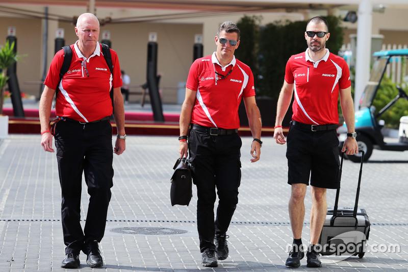 John Booth, Manor Marussia F1 Team, mit Graeme Lowdon, Manor Marussia F1 Team, und Marc Hynes, Manor