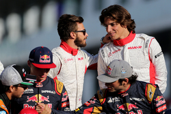 Will Stevens, Manor F1 Team and Roberto Merhi, Manor F1 Team