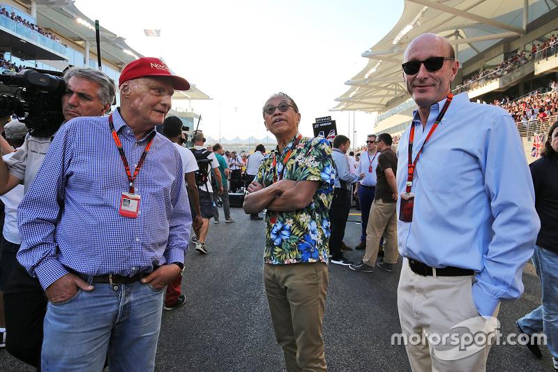 Нікі Лауда, Невиконавчий голова Mercedes, та Дональд МакКензі, CVC Capital Partners Managing Partner