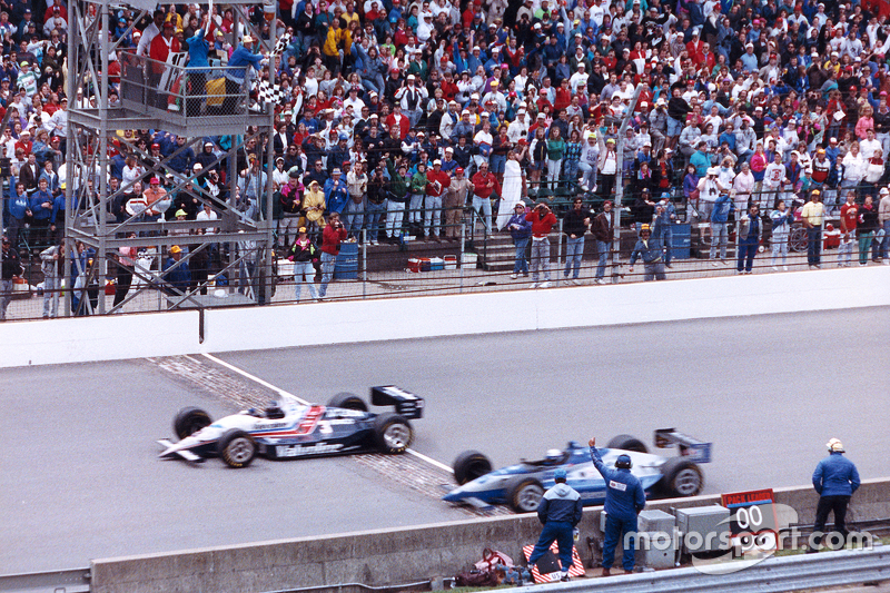 The climax to one of Indy's most unexpected battles for the win.