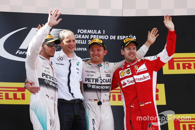 Гран При Испании: 1. Нико Росберг. 2. Льюис Хэмилтон. 3. Себастьян Феттель