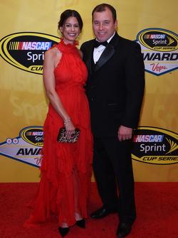 Ryan Newman, Richard Childress Racing Chevrolet mit Ehefrau Krissie